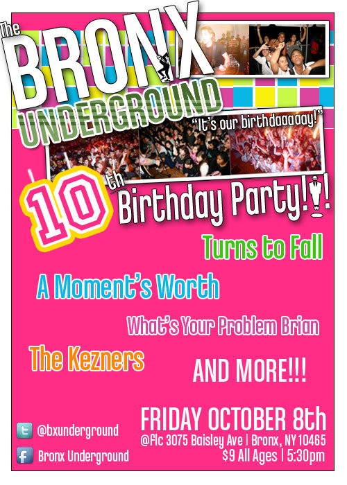Bronx Underground Birthday Bash!